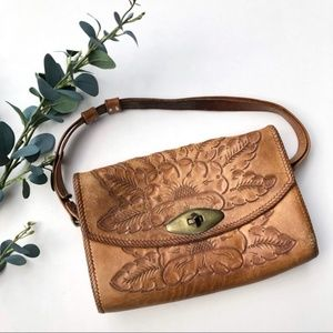 Vintage hand-tooled leather purse